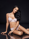 Lauma, Nude Uderwired Non-padded Cotton Bra, On Model Front, 38C20