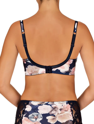 Lauma, Blue Underwired Bra, On Model Back, 38F20