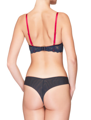 Lauma, Blue Mid Waist Strings, On Model Back, 38H60