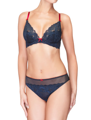 Lauma, Blue Mid Waist Strings, On Model Front, 38H60