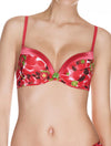 Lauma, Red Moulded Push Up Bra, On Model Front, 39D12