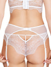 Lauma, White Suspender Belt, On Model Back, 42H05