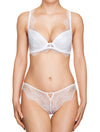 Lauma, White Plunge Push Up Lace Bra, On Model Front, 42H10