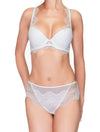 Lauma, White Lace String Panties, On Model Front, 42H61