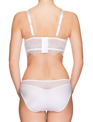 Lauma, White Mid Waist Panties, On Model Back, 42H50