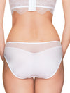 Lauma, White Mid Waist Panties, On Model Black, 42H50