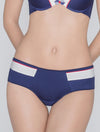 Lauma, Blue Mid Waist Panties, On Model Front, 45D72
