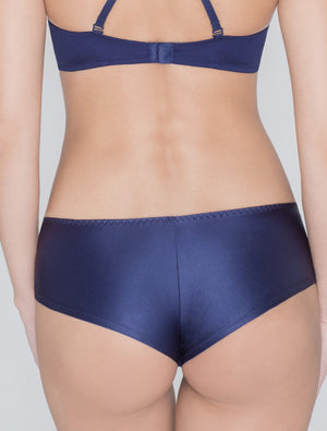 Lauma, Blue Mid Waist Panties, On Model Back, 45D72