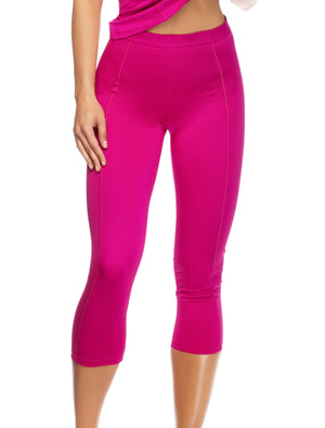 Lauma, Pink Sports Capri, On Model Front, 46D53
