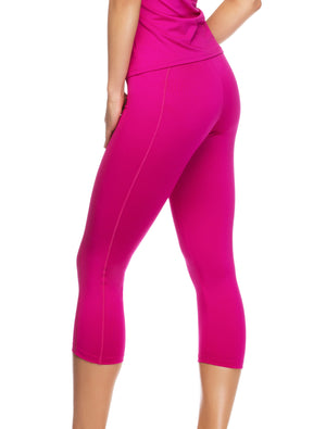 Lauma, Pink Sports Capri, On Model Back, 46D53