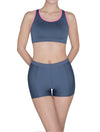 Lauma, Grey Sports Shorts, On Model Front, 46D70