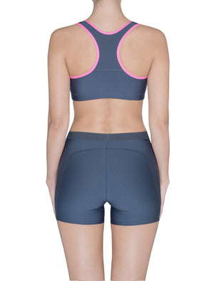 Lauma, Grey Sports Shorts, On Model Back, 46D70