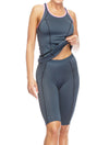 Lauma, Grey Sports Tank Top, On Model Front, 46D94