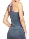 Lauma, Grey Sports Tank Top, On Model Back, 46D94