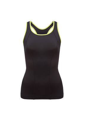 Lauma, Black Sports Tank Top, On Model Front, 46D94