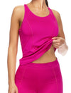 Lauma, Pink Sports Tank Top, On Model Front, 46D94