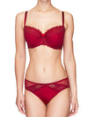 Lauma, Red Half Padded Bra, On Model Front, 47H40