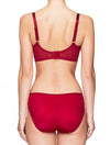 Lauma, Red Half Padded Bra, On Model Back, 47H40