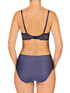 Lauma, Blue Underwired Non-padded Bra, On Model Back, 48F20
