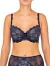 Lauma, Blue Underwired Non-padded Bra, On Model Front, 48F20