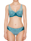 Lauma, Green Underwired Padded Bra, On Model Front, 50H30