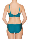 Lauma, Green Underwired Padded Bra, On Model Back, 50H30