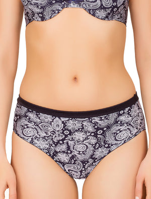 Lauma, Blue Mid Waist Panties, On Model Front, 51G42