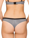 Lauma, Black String Panties, On Model Back, 51G60