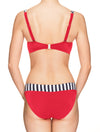 Lauma, Red Swimwear Bikini Top, On Model Back, 52H20
