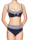 Lauma, Blue Swimwear Bikini Top, On Model Front, 52H20