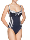 Lauma, Blue One Piece Swimsuit, On Model Front, 52H82