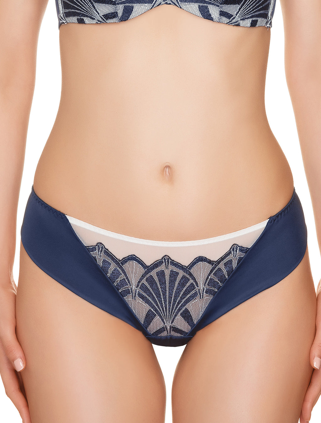 Lauma, Blue String Tanga Briefs, On Model Front, 53H60