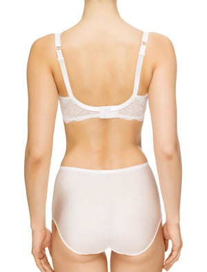 Lauma, Ivory Non-padded Lace Bra, On Model Back, 54G20