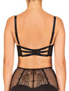 Lauma, Black Lace Strappy Bra, On Model Back, 60F20