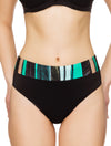 Lauma, Black Swimwear Bikini Bottoms, On Model Front, 75H51