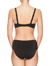 Lauma, Black Swimwear Bikini Top, On Model Back, 62H20