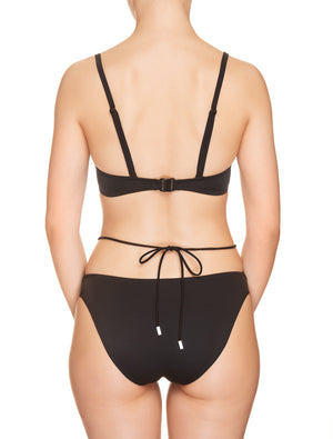 Lauma, Black Swimwear Bikini Top, On Model Back, 62H35