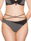 Lauma, Black Swimwear Bikini Bottom, On Model Front, 62H50