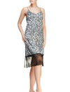 Lauma, Silver Satin Night Dress, On Model Front, 63J91