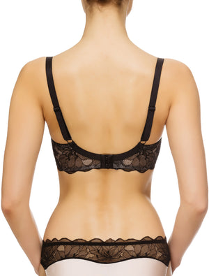 Lauma, Black Underwired Soft-cup Bra, On Model Back, 64G20
