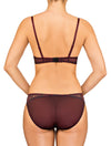 Lauma, Red Mid Waist Panties, On Model Back, 65F50