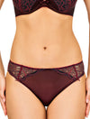 Lauma, Red Mid Waist Panties, On Model Front, 65F50