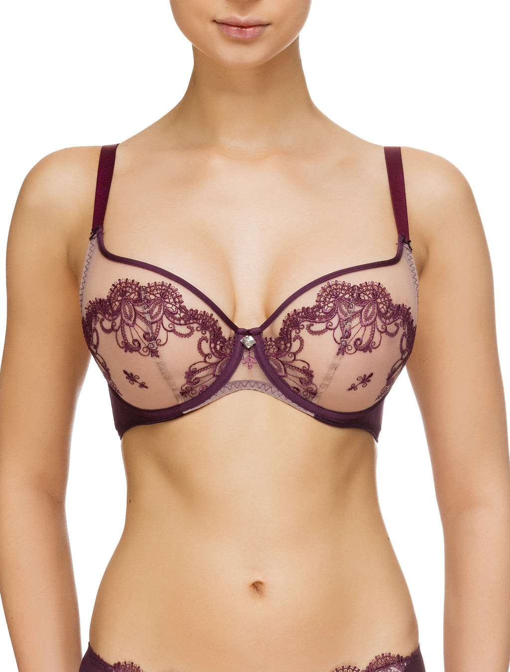 Lauma, Violet Non-padded Bra, On Model Front, 65G20