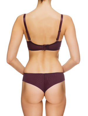 Lauma, Violet Non-padded Bra, On Model Back, 65G20