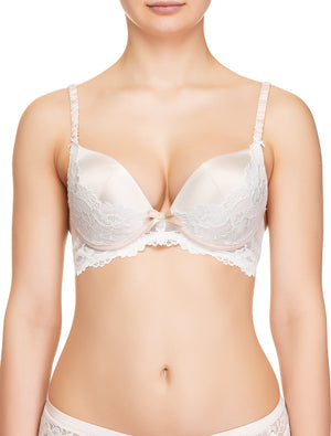 Lauma, Ivory Lace Push Up Bra, On Model Front, 65H35