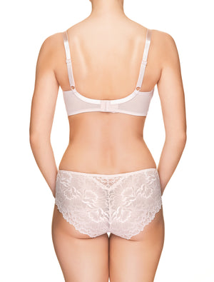 Lauma, Light Pink Mid Waist Lace Panties, On Model Back, 66H50
