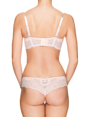 Lauma, Light Pink Lace String Panties, On Model Back, 66H60