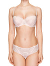 Lauma, Light Pink Lace String Panties, On Model Front, 66H60