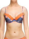 Lauma, Blue Push Up Bra, On Model Front, 69G10