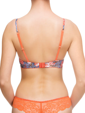 Lauma, Blue Push Up Bra, On Model Back, 69G10